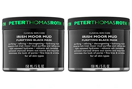 Peter Thomas Roth Cosmetics - Peter Thomas Roth Cosmetics Irish Moor Mud Mask (Pack of 2) With Herbs, Flowers, Plants, Hijki Seaweed, Vitamins, Volcanic Ash and Activated Charcoal, 5 fl. oz. Each
