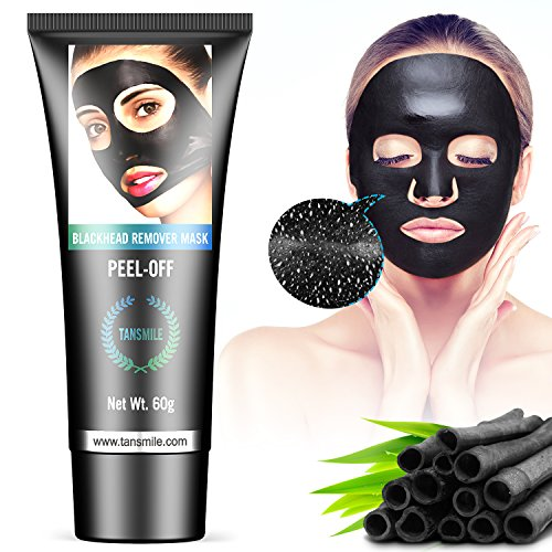 Tansmile - Charcoal Peel Off Mask, Tansmile Blackhead Remover Mask Activated Charcoal Face Mask Deep Cleansing Purifying Peel Off Black Face Mask (60g)