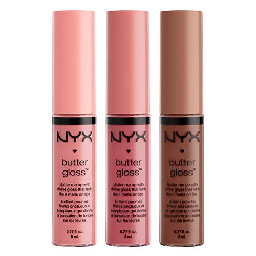 NYX - Butter Lip Gloss Set, Creme Brulee, Angel Food Cake, and Ginger Snap