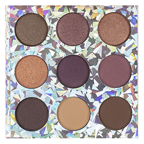 Nicloe Miller - Nicole Miller Good Vibes Only Metallic Eye Shadow Palette, Eye Makeup for Women, Makeup Set and Cosmetics for Girls Metallic Eyeshadow Colors, Small Compact Set - 9 Matte and Shimmery Shades