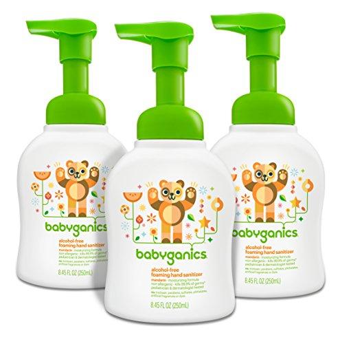 Babyganics - Babyganics Alcohol-Free Foaming Hand Sanitizer, Mandarin, 8.45oz Pump Bottle (Pack of 3)