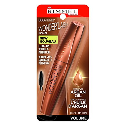 Rimmel - Rimmel Wonderful Wonderlash Mascara, Extreme Black, 0.37 Fluid Ounce (Pack of 2)