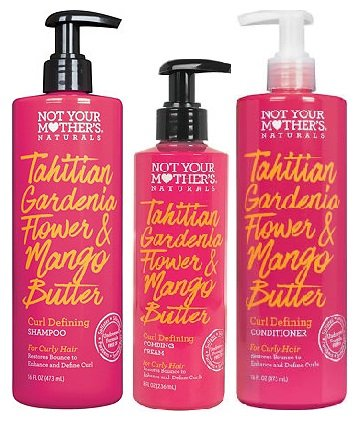 Not Your Mother's - Not Your Mothers Naturals Curl Defining Hair Care Set, Tahitian Gardenia Flower and Mango Butter, Shampoo, Conditioner and Curl Defining Cream