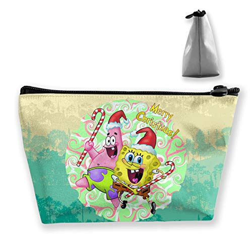 PSnsnX - PSnsnX Cosmetic Bags Patrick Star SpongeBob Christmas Portable Travel Makeup Pouch Toiletry Organizer