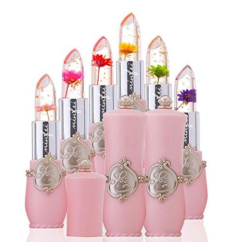 minfei - Transparent Temperature Change Lipstick Fruit Jelly Lipstick Moisturizing Lip Gloss Color Box Packaging 24 Boxes
