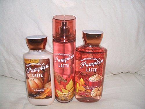 Bath & Body Works - Bath & Body Works Marshmallow Pumpkin Latte Fragrance Mist Body Lotion and Body Wash Large Set