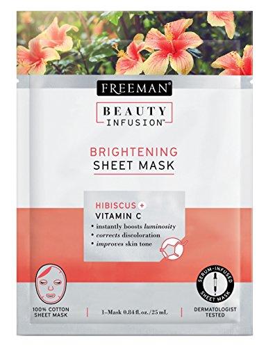Freeman - Freeman Beauty Infusion Mask Brightening Sheet (6In) Dsply