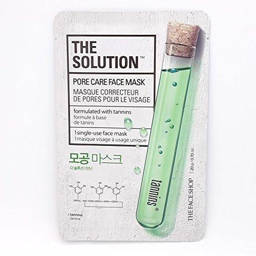 THEFACESHOP - THE FACE SHOP The Solution Mask Sheets PORE CARE Face Mask 10pcs