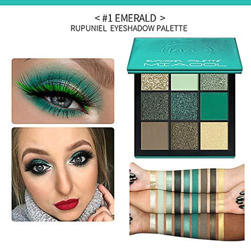 Jumberri Eyeshdow - Valentine's Best Gifts for Women!!! Jumberri Sexy 9 Color Pearl Glitter Eye Shadow Powder Palette Matt Eyeshadow Cosmetic Makeup