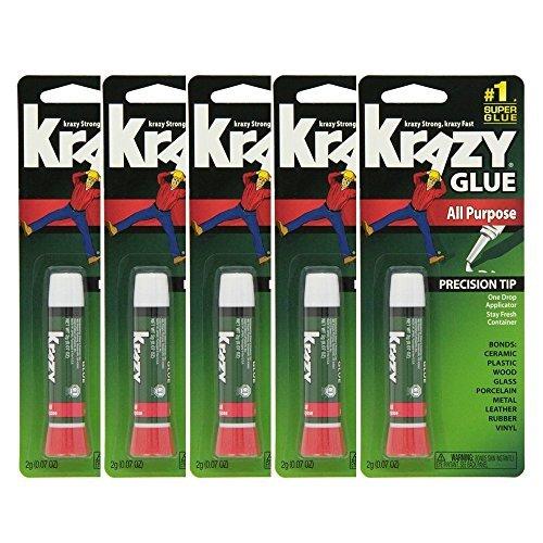 Krazy Glue - Krazy Glue Original Crazy Super Glue All Purpose Instant Repair, (Pack of 5)