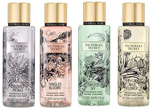 Victoria's Secret - Victoria's Secret Set of 4 Fragrance Mist: Crushed Petals, Tangled Blooms, Twisted Ivy, Wild Flower