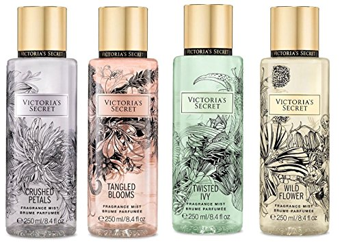 Victoria's Secret - Victoria's Secret Set of 4 Fragrance Mist: Crushed Petals, Tangled Blooms, Twisted Ivy, Wild Flower