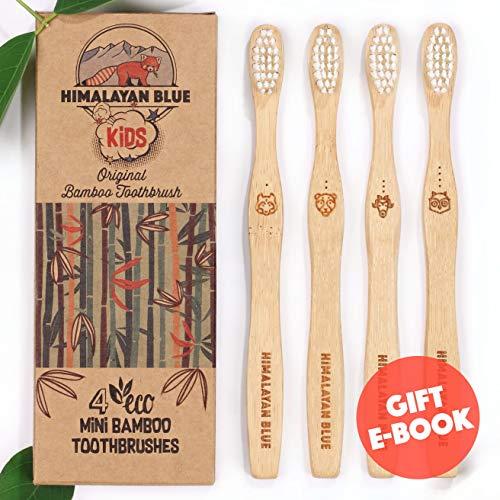 Himalayan Blue - Kids Natural Biodegradable Bamboo Toothbrush