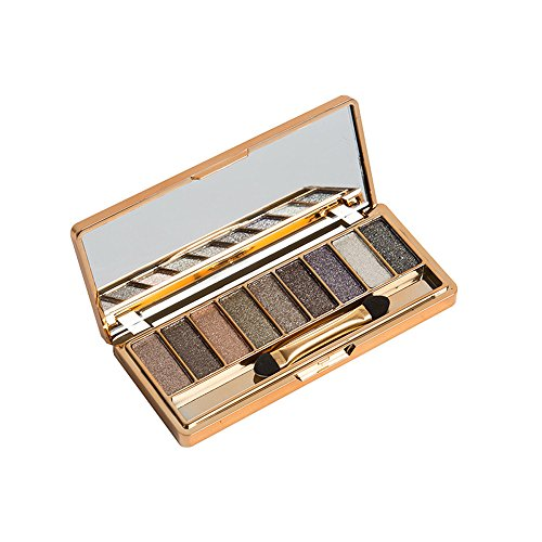 ABASSKY - 9 Colors Shimmer Eyeshadow Eye Shadow Palette & Makeup Cosmetic Brush Set