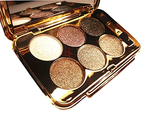 TF-Duan - Glitter Eyeshadow Palette 6 Colors Sparkle Eyeshadow Shimmer Ultra Long Lasting Makeup Palette for Valentine's Day Wedding Evening Party