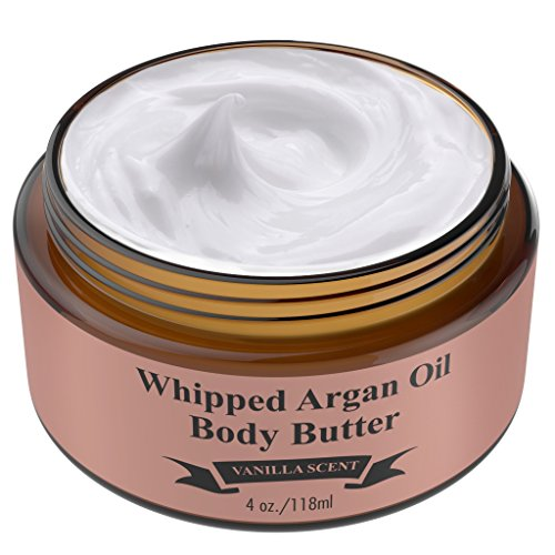 The Gentlemen's - Whipped Argan Oil Body Butter Cream - Make Your Skin Soft & Silky Smooth - Made With Argan Oil Which Has Restorative And Antioxidant Properties - No Parabens - (Vanilla)