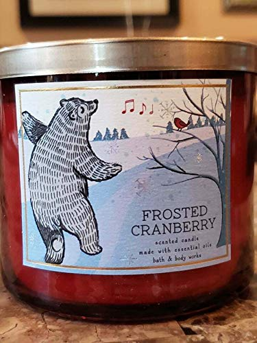 Bath & Body Works - White Barn Bath and Body Works Frosted Cranberry 3-Wick Scented Candle 14.5 oz