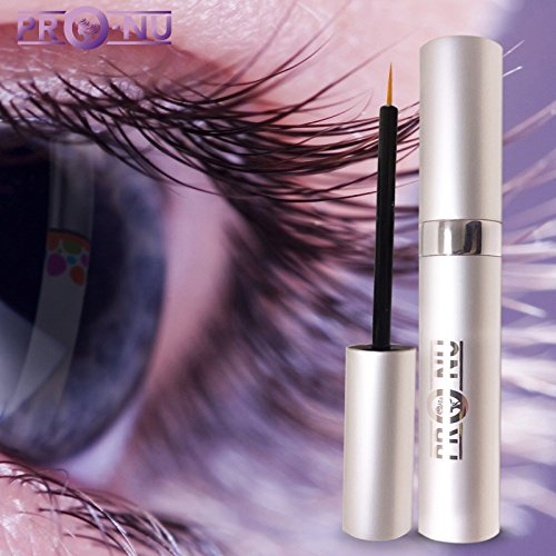 ProNu - Pro-Nu New Eyelash Growth Serum 5ml - Made in USA - Eyelash Enhancer for Thicker, Fuller and Longer Eyelashes and Brows.