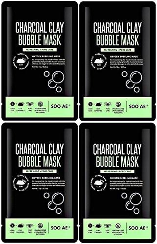 SOOAE - Soo AE Charcoal Clay Bubble Masks, Set of 4