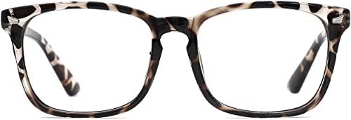 TIJN - TIJN Blue Light Blocking Glasses Square Nerd Eyeglasses Frame Anti Blue Ray Computer Game Glasses
