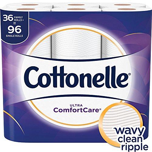 Cottonelle - Cottonelle Ultra ComfortCare Toilet Paper, Soft Bath Tissue, 36 Family Rolls+