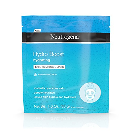 Neutrogena - Neutrogena Hydro Boost Moisturizing & Hydrating 100% Hydrogel Sheet Mask, Face Mask for Dry Skin with Hyaluronic Acid, Gentle & Non-Comedogenic, 1 oz (Pack of 12)