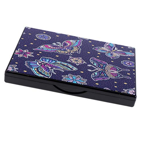 Fityle - Fityle Professional Makeup Eyeshadow Palette Empty Magnetic Eye Shadow Storage Containers - Purple Butterfly(Random)