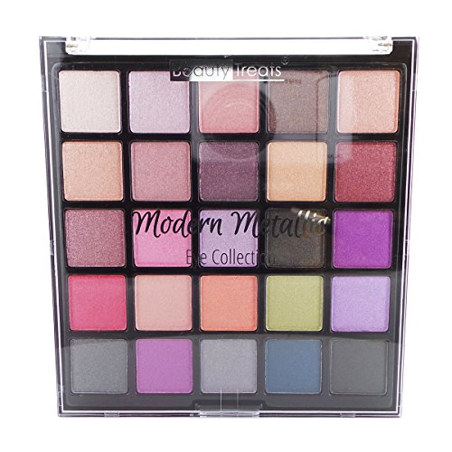 Beauty Treats - Beauty Treats Modern Metallics Eyeshadow Collection Palette - 25 Shades - Highly Pigmented Shimmer