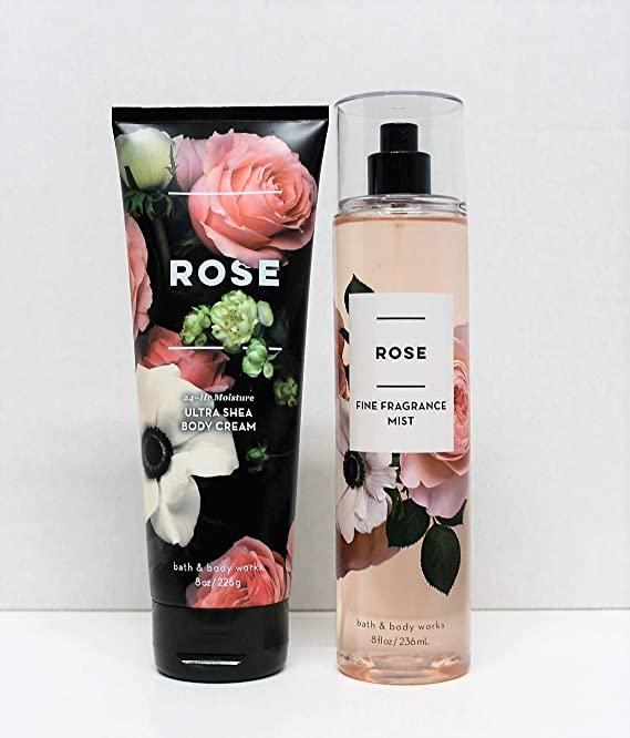Bath & Body Works Bath and Body Works - Rose - Ultra Shea Body Cream and Fine Fragrance Mist -8 Oz 2018