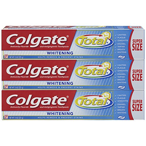 Colgate - Colgate Toothpaste, Total Whitening, 7.8 oz Triple Pack (Super Size)