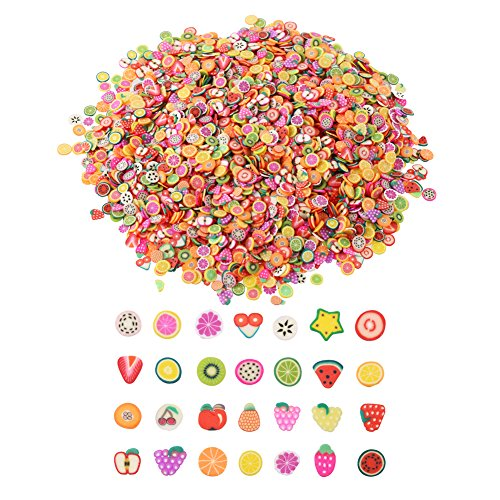"DECORA - DECORA 1/4"" Mini 3D Fimo Fruit Slices for Slime Crafts Nail Art and Face Decoration"