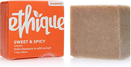 Ethique - Ethique Eco-Friendly Solid Shampoo Bar to Add Volume & Bounce, Sweet & Spicy - Sustainable Natural Shampoo, Plastic Free, pH Balanced, Vegan, Plant Based, 100% Compostable and Zero Waste 3.88oz
