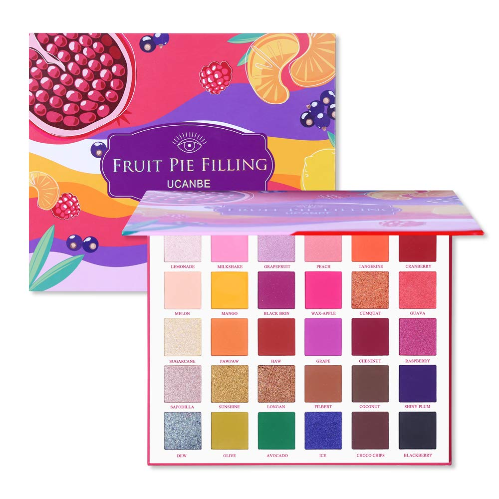 Ucanbe - UCANBE 30 Colors Eyeshadow Makeup Palette, High Pigmented Shimmer Matte Glitter Metallic Neutral Dramatic Smooth Blendable Long Lasting Eyes Shadow Make Up Pallet Set