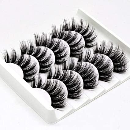InBrave - InBrave Fake Eyelashes Dramatic Look, 3D Mink False Lashes 5 Pairs, Faux Mink Eyelashes High Volume, Fluffy Lashes for Women Fake Lashes Resuable Bulk Wholesale