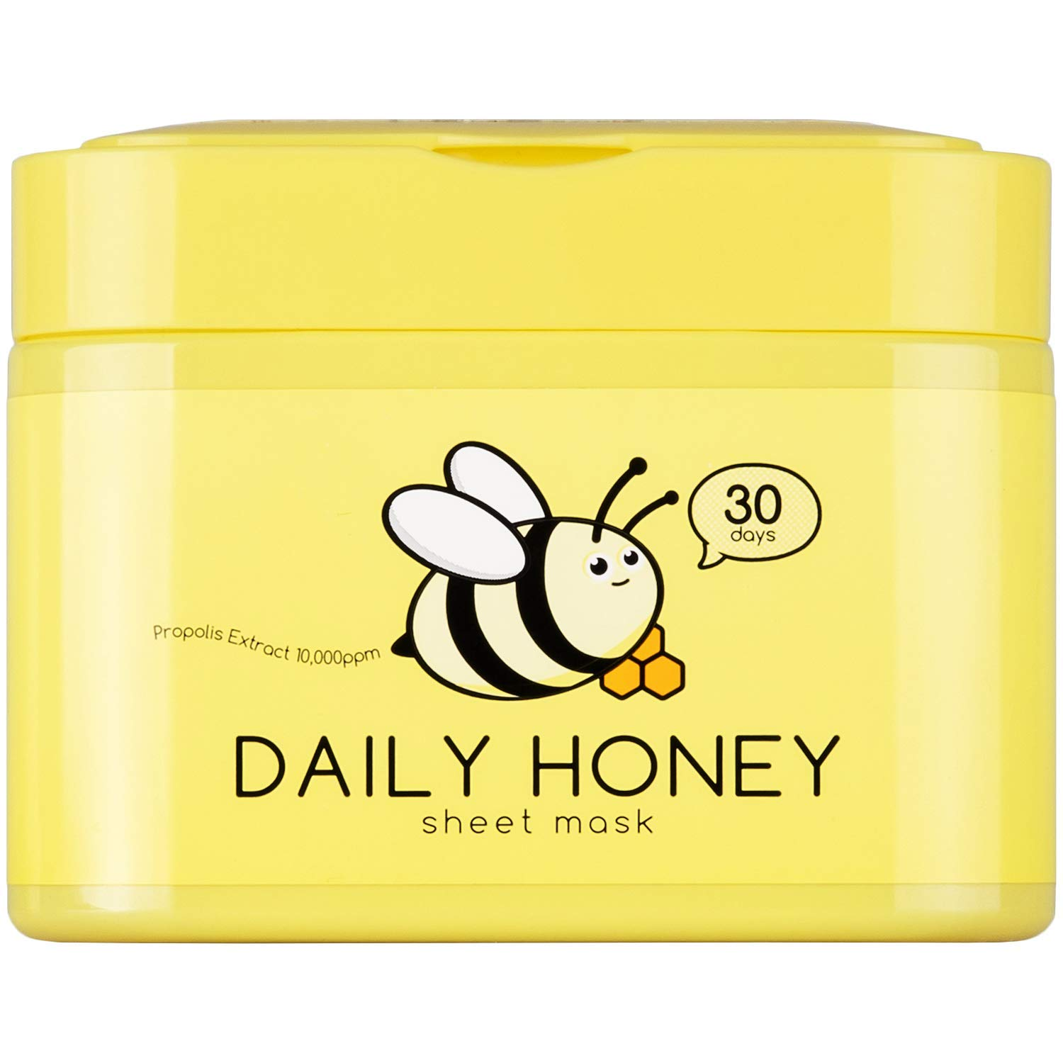 QTBT - QTBT Daily Honey Sheet Mask with Propolis Extract 10000ppm, Pack of 30 Sheets, EWG Verified