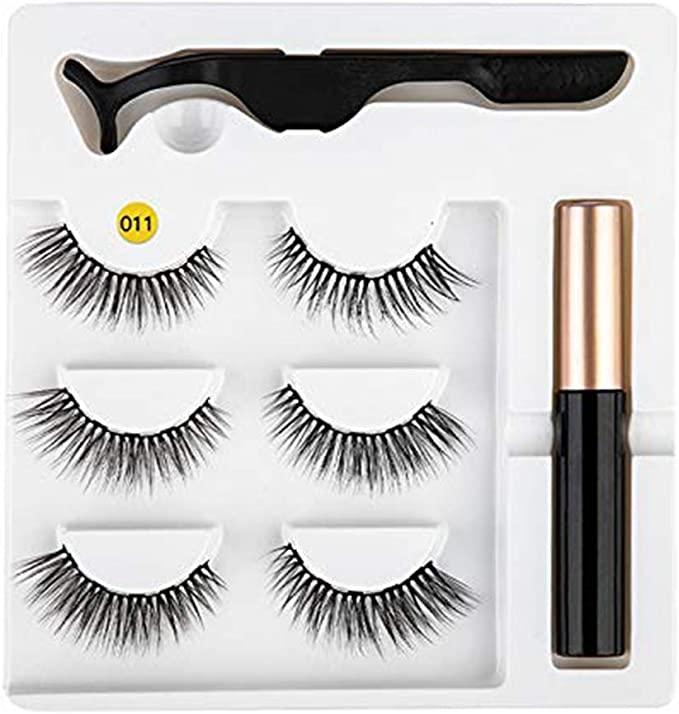 amazon.ca - Magnetic eyeliner false eyelashes Kit Easy To Wear Quick Dry Liquid Eyeliner Magnetic eyeliner false eyelashes Magnetic Liquid Eyeliner False Eyelashes Tweezer Set Cosmetic Tools # 11