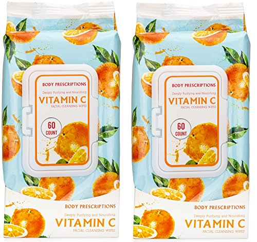 Body Prescriptions - Vitamin C Facial Cleansing Wipes