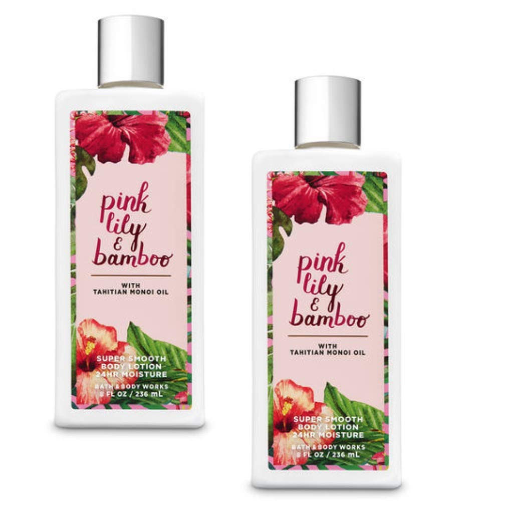 amazon.com - Body Works 2 Pack Pink Lily & Bamboo Super Smooth Body Lotion 8 Oz.