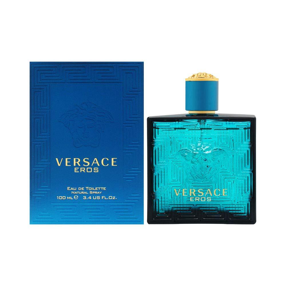 Versace - Versace Eros Eau de Toilette Spray for Men, 3.4 Fl Oz, 3.4 Fl Oz(Pack of 1)