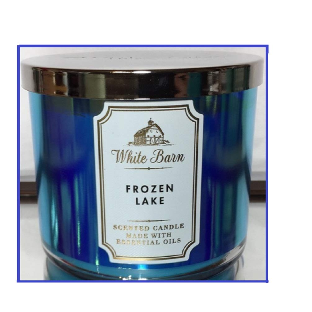 White Barn - White Barn Bath & Body Works 3-Wick Scented Candle in Frozen Lake (2019)