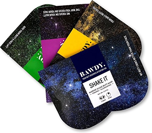 Dope Naturally BAWDY Galaxy Kit - Butt Mask Collection, pack of 4 masks - Shake It, Slap It, Squeeze It, Bite It
