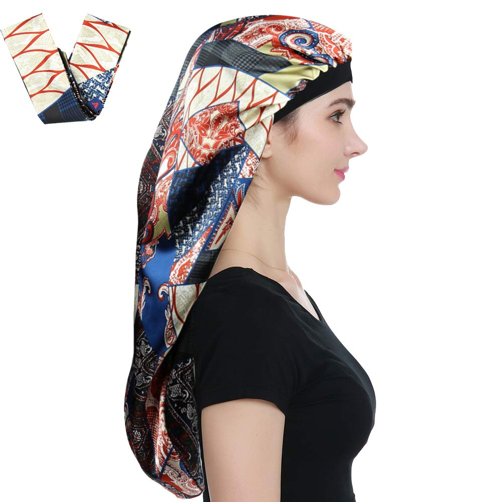amazon.com - Alnorm Sleep Bonnets for Curly Hair Braids Black Women
