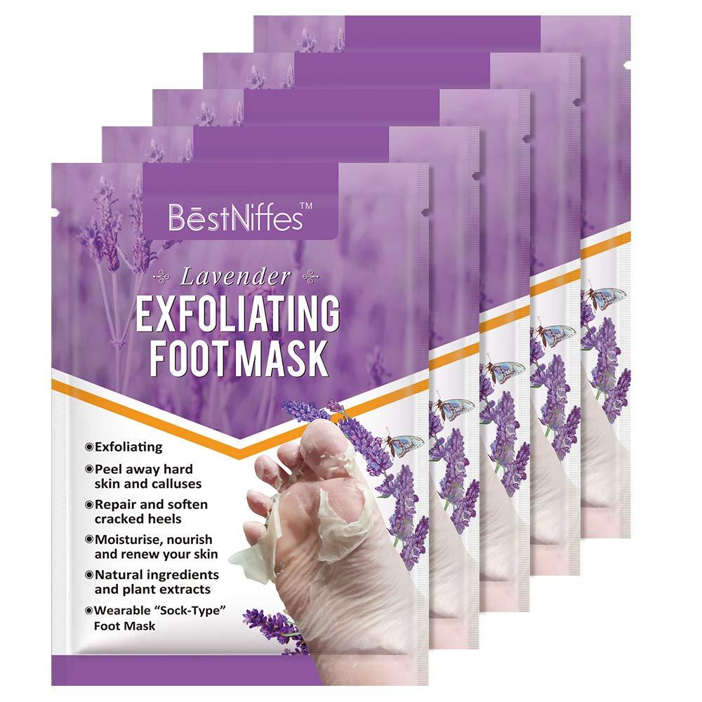 amazon.com - 5 Pack Foot Peel Mask -Baby Foot Peel -Removes Calluses,Dead and Dry Skin - Repairs Rough Heels,Baby Foot Baby Feet Foot Peel (Lavender)