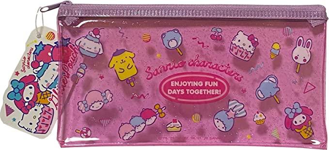 FRIEND Sanrio Characters Flat Vinyl Glitter Pouch 2010 cm Zipper Pen Accessories Case Bag (Fancy)
