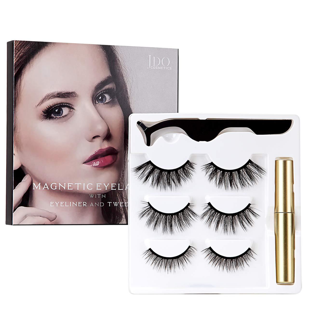 amazon.com - JDO Magnetic Eyelashes with Magnetic Eyeliner 3 Styles False Lashes