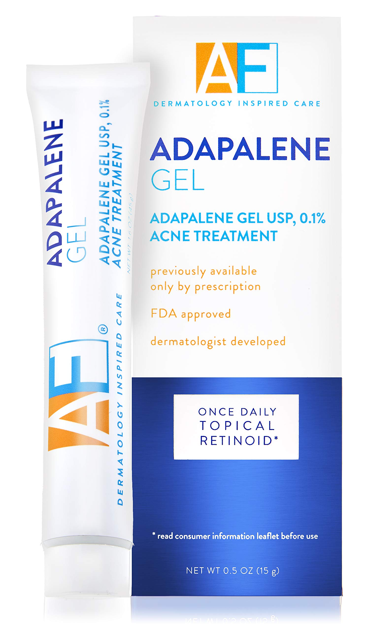 Acne Free - Acne Free Adapalene Gel 0.1%, Once-Daily Topical Retinoid Acne Treatment, 30 Day Supply, 0.5 oz
