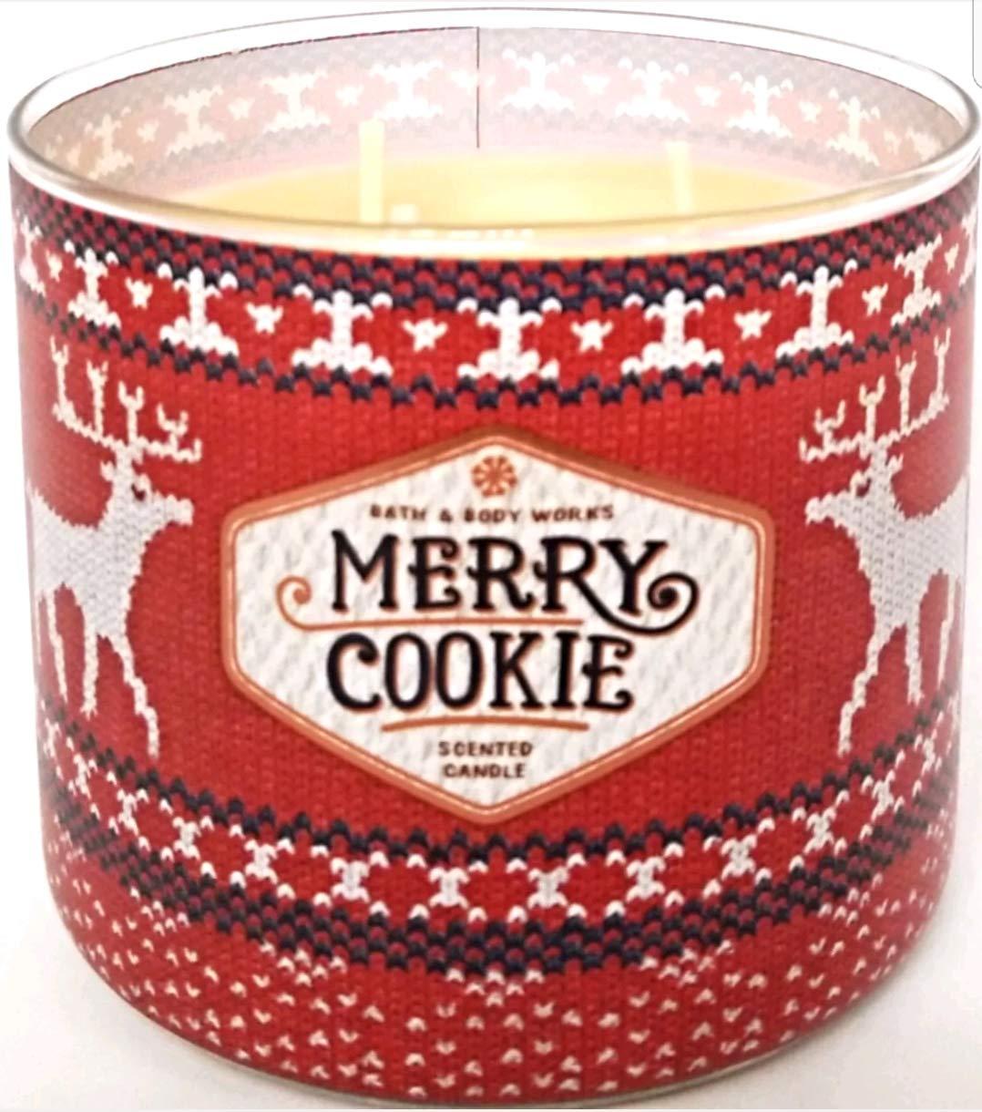 White Barn - White Barn Bath & Body Works 3 Wick Candle Merry Cookie