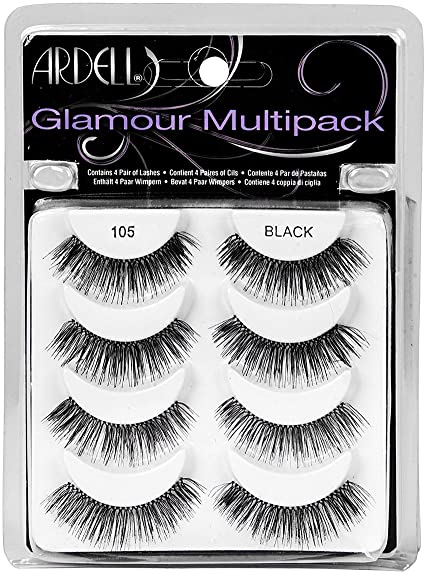 Ardell - Ardell Glamour Multipack 4 Pair Lashes,105 Black