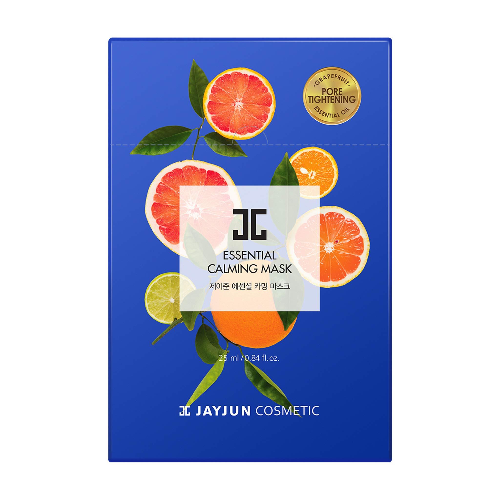 amazon.com - JAYJUN Essential Calming Mask, Pack of 10 Sheets, Grapefruit, Tea Tree, Soothing, Sheet Mask, Hydrating