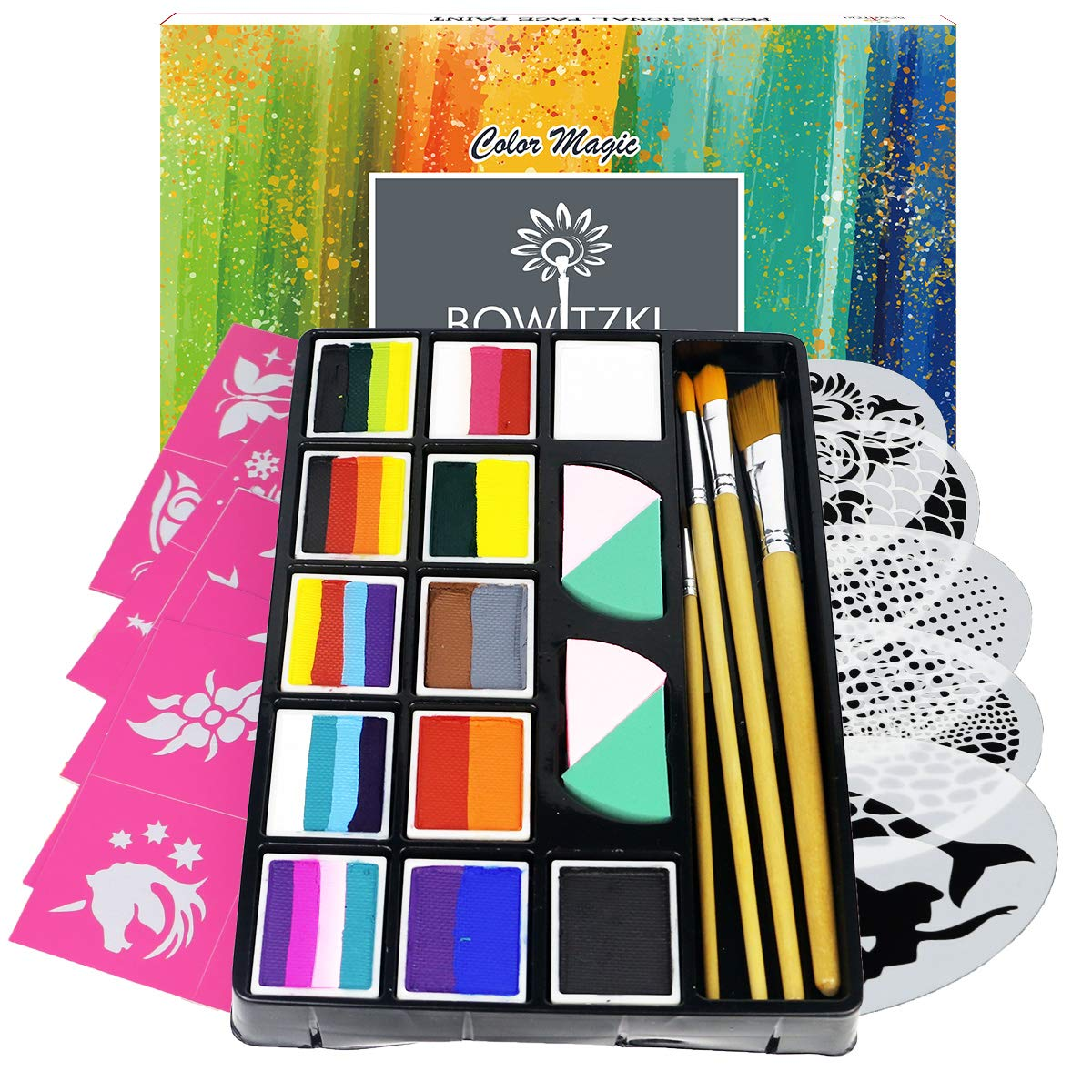 Bowitzki - Professional Face Painting Kit